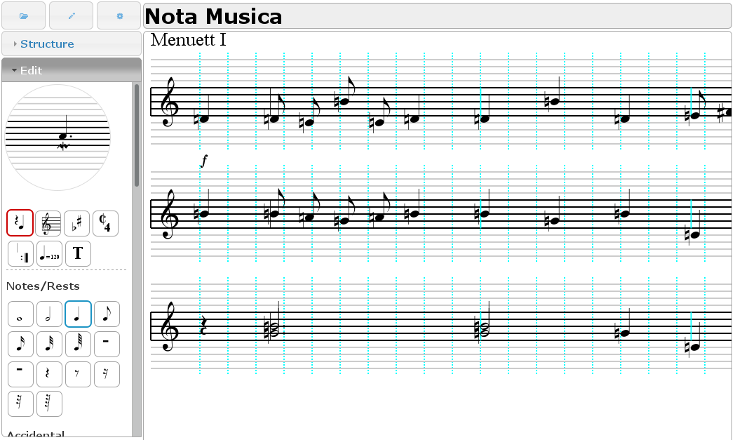 screen shot of Nota Musica